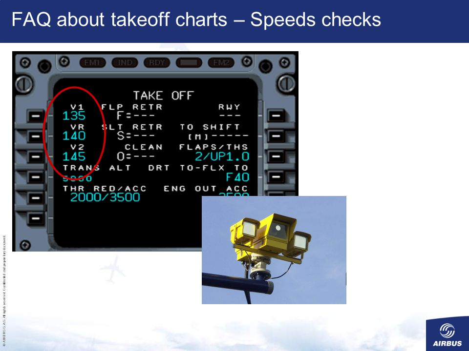 FAQ about takeoff charts – Speeds checks