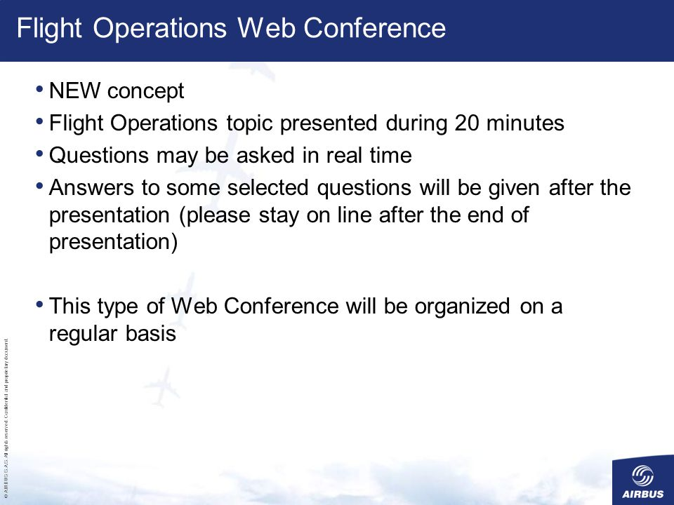 Flight Operations Web Conference