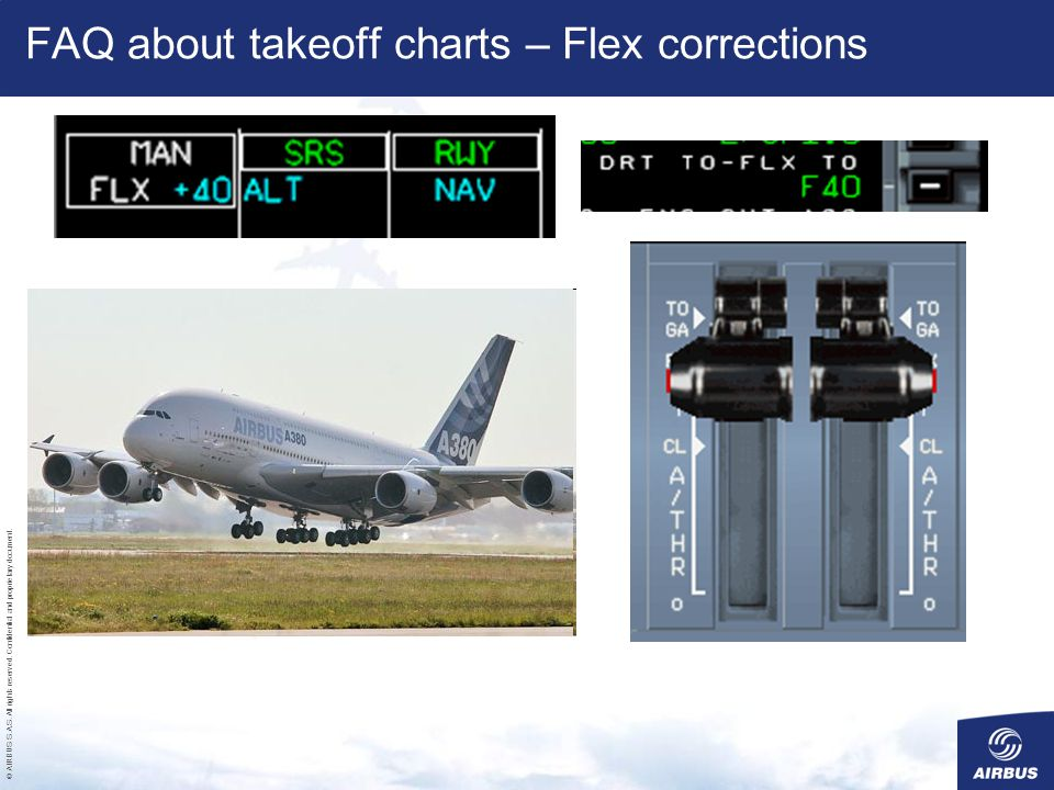 FAQ about takeoff charts – Flex corrections