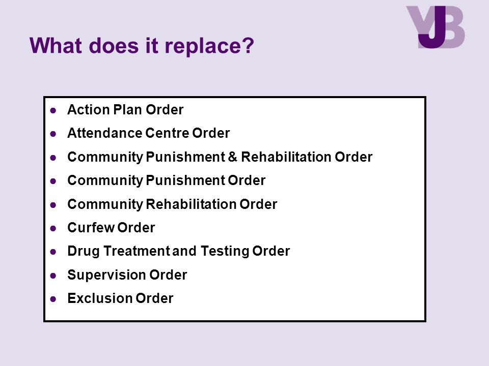 What does it replace Action Plan Order Attendance Centre Order