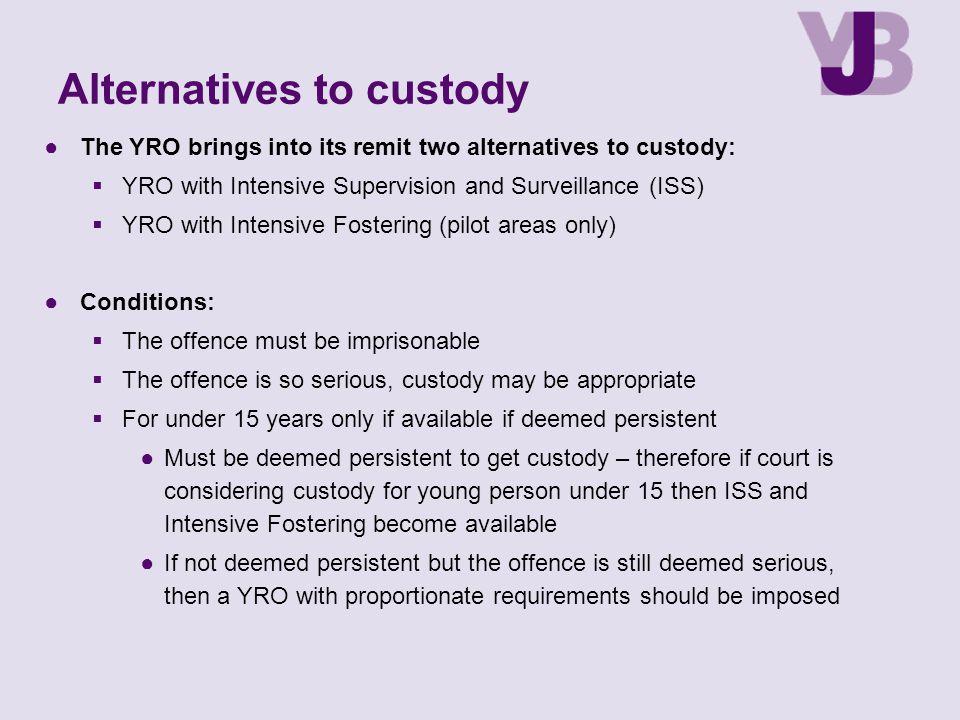 Alternatives to custody