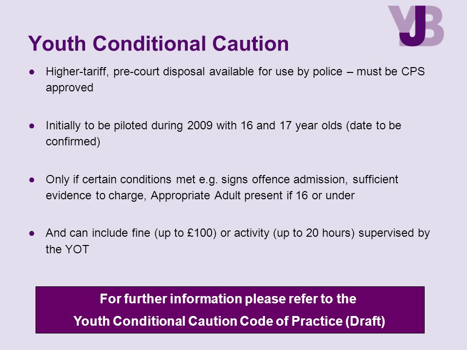Youth Conditional Caution