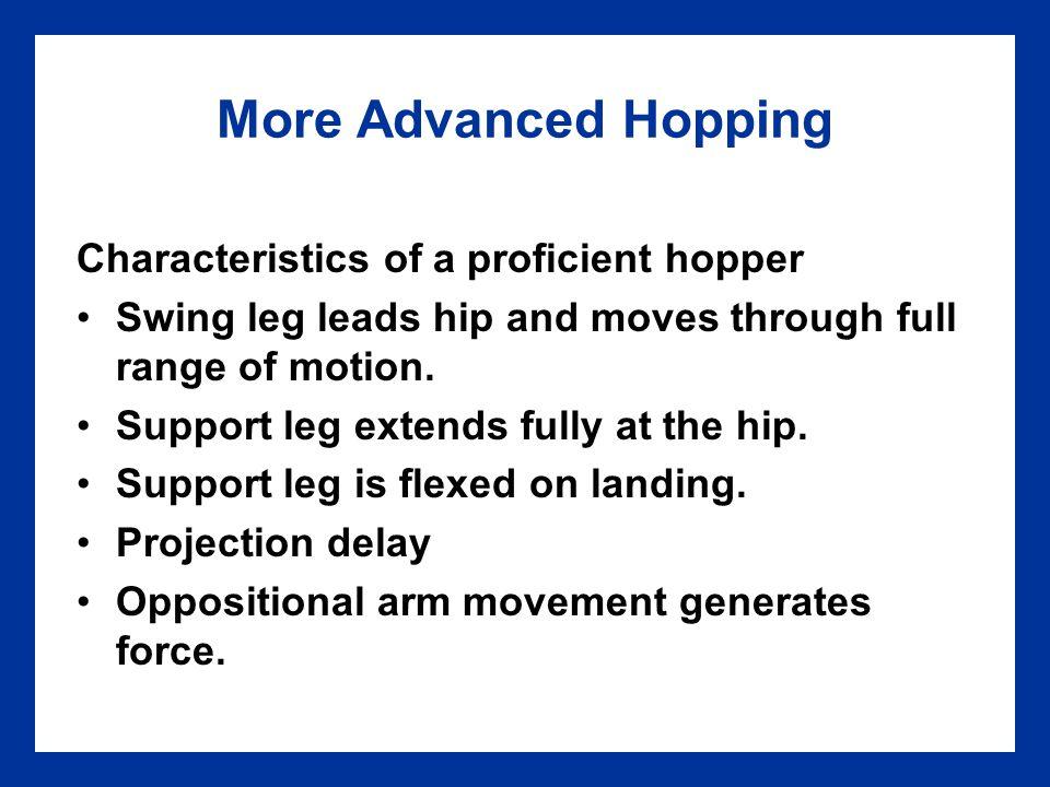 More Advanced Hopping Characteristics of a proficient hopper