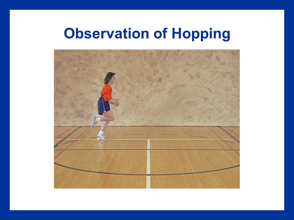 Observation of Hopping