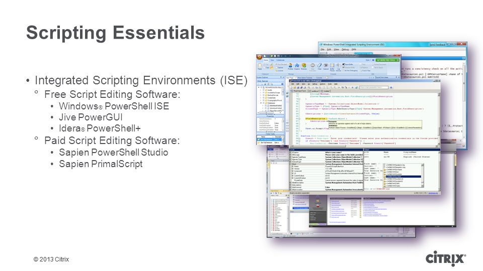 Scripting Essentials Integrated Scripting Environments (ISE)