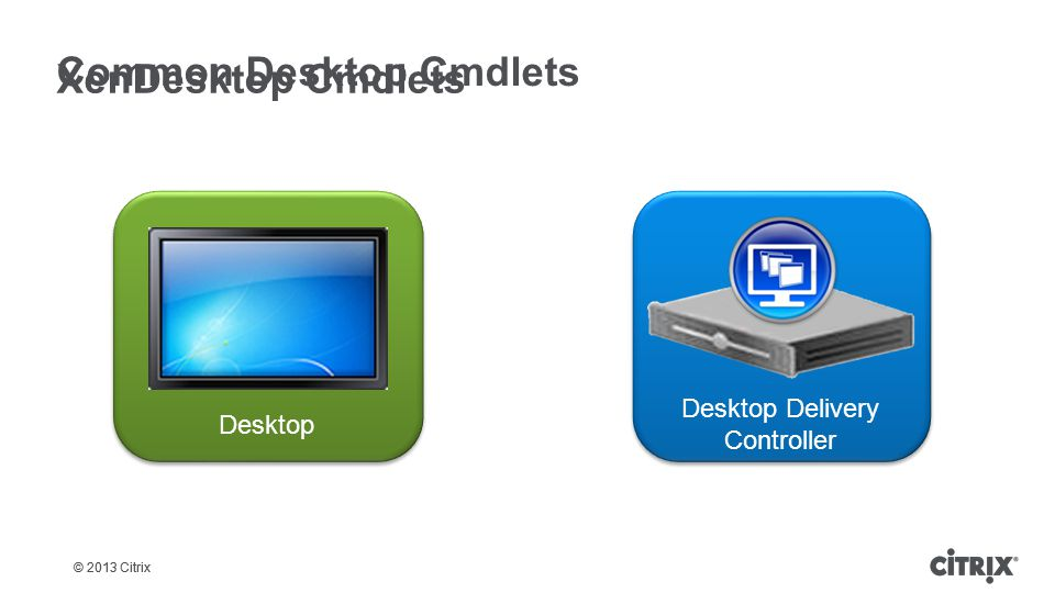 Common Desktop Cmdlets XenDesktop Cmdlets