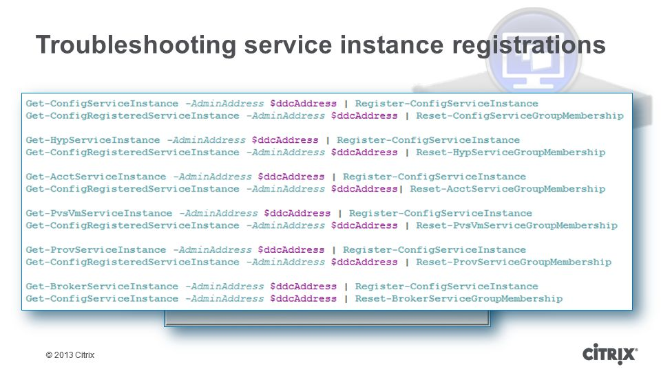 Troubleshooting service instance registrations
