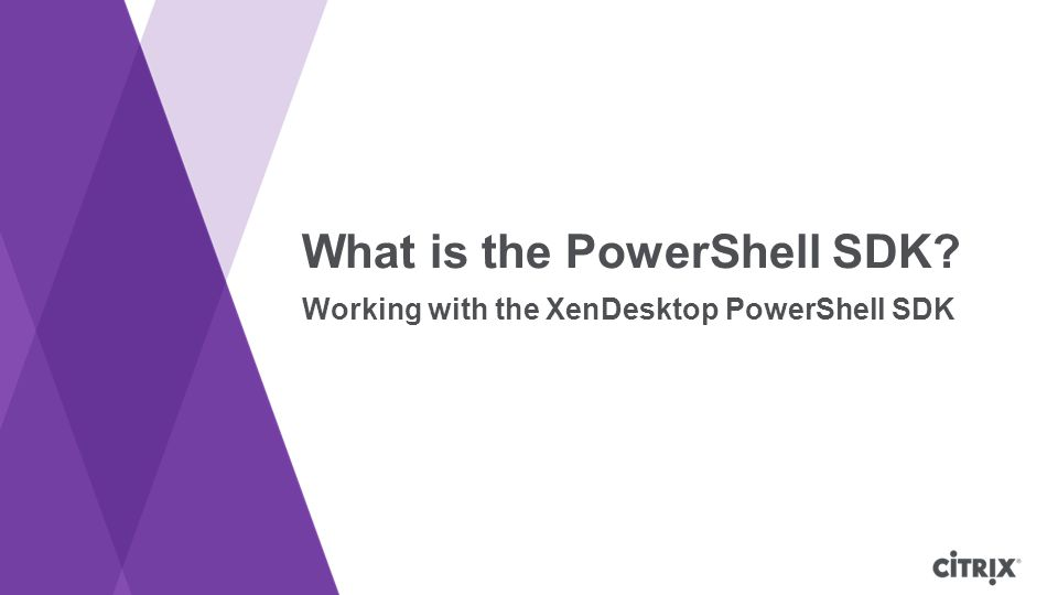 What is the PowerShell SDK