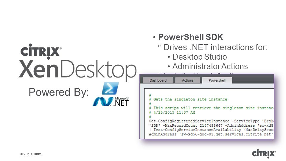 Powered By: PowerShell SDK Drives .NET interactions for: