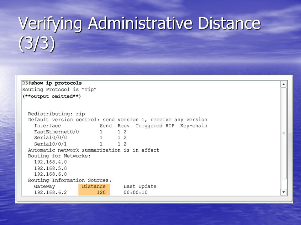 Verifying Administrative Distance (3/3)