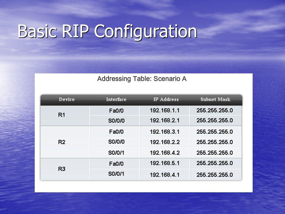 Basic RIP Configuration