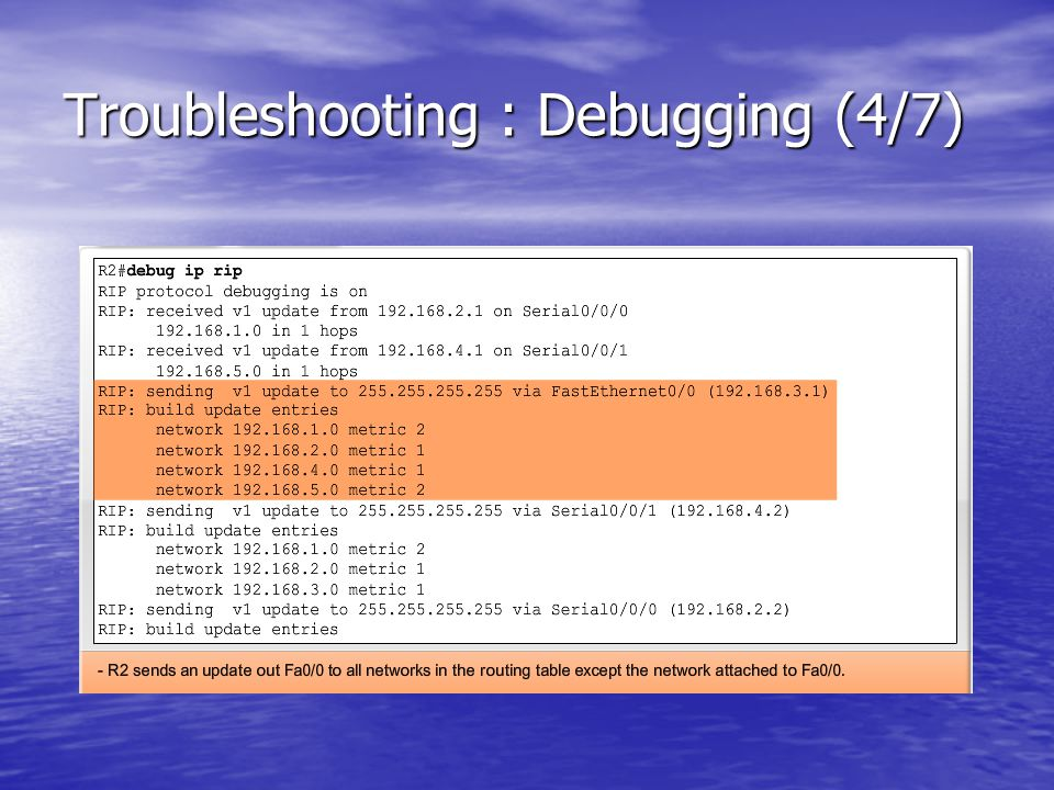 Troubleshooting : Debugging (4/7)