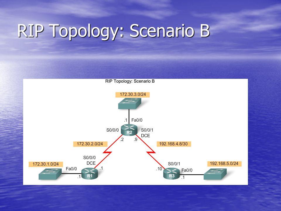 RIP Topology: Scenario B