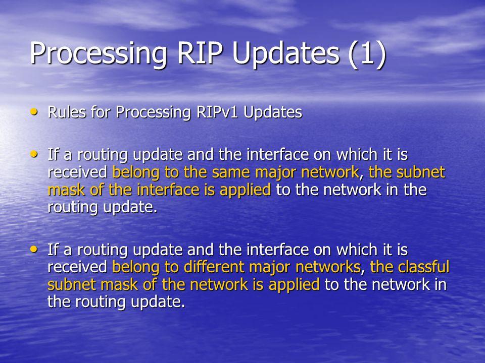 Processing RIP Updates (1)