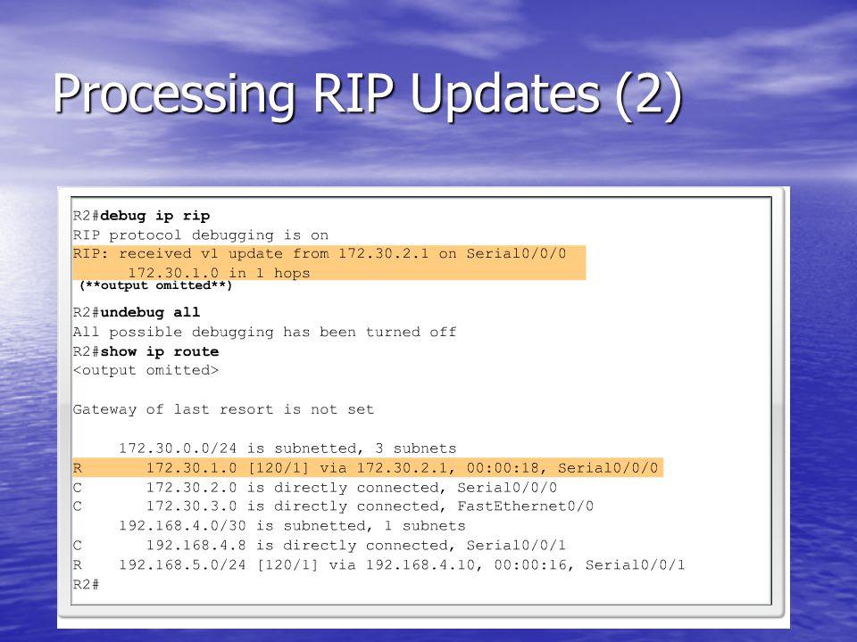 Processing RIP Updates (2)