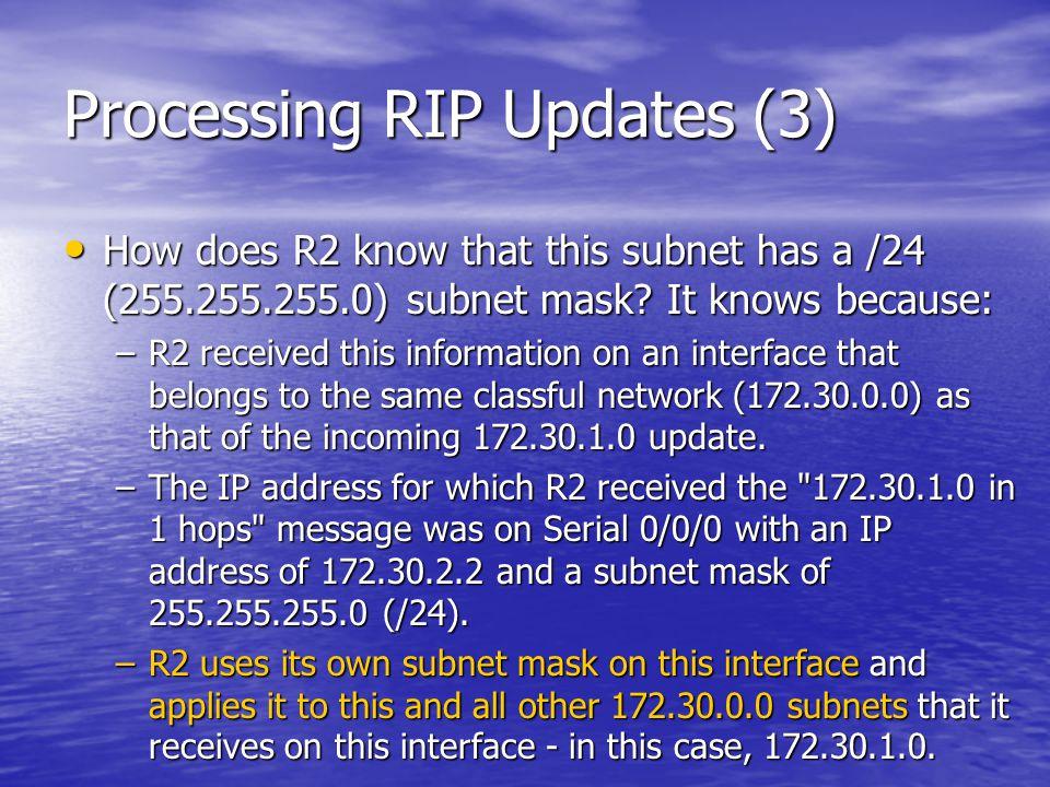 Processing RIP Updates (3)