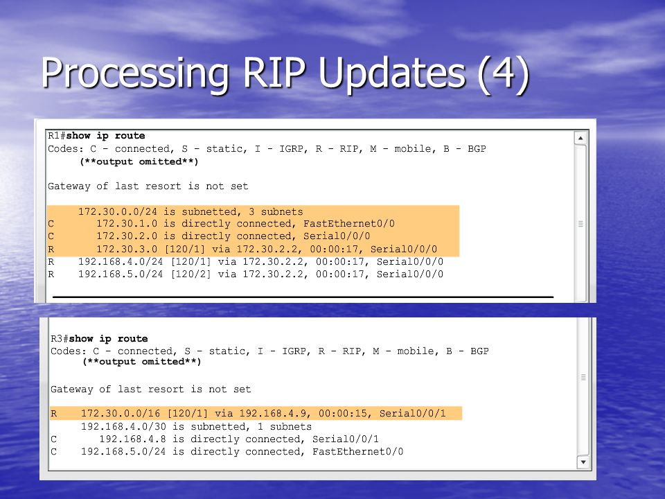 Processing RIP Updates (4)