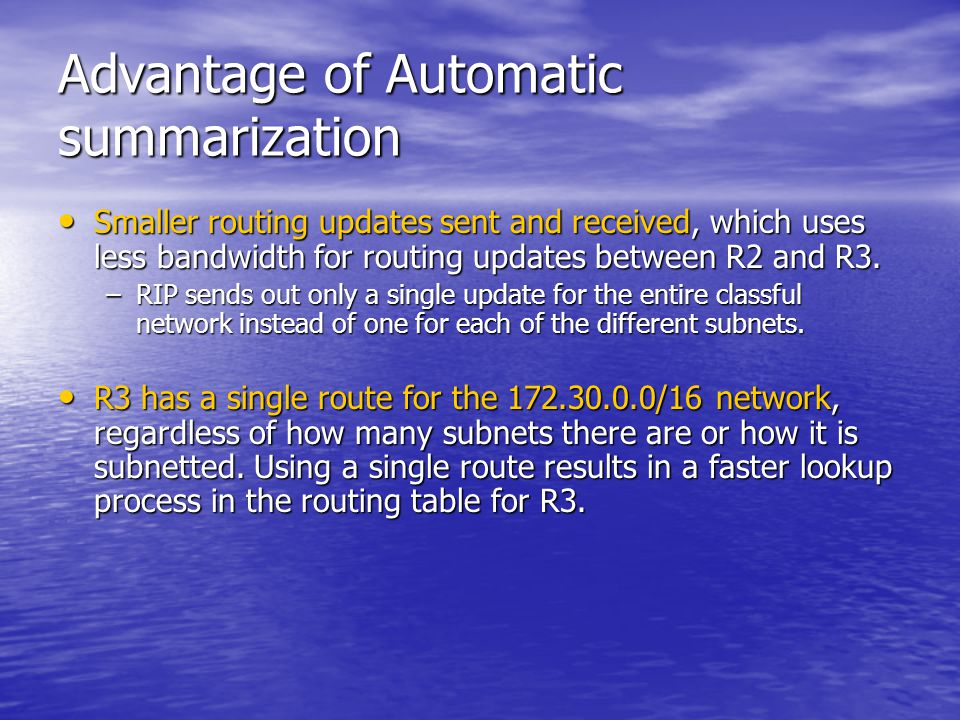 Advantage of Automatic summarization