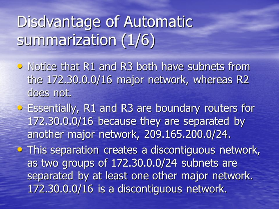 Disdvantage of Automatic summarization (1/6)