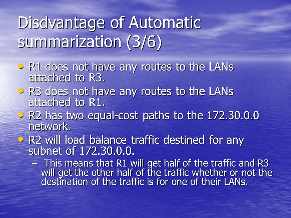 Disdvantage of Automatic summarization (3/6)