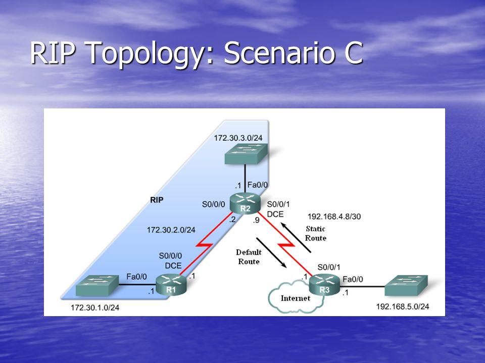 RIP Topology: Scenario C