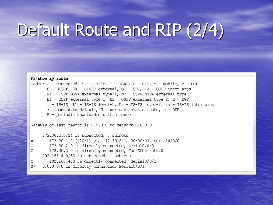 Default Route and RIP (2/4)