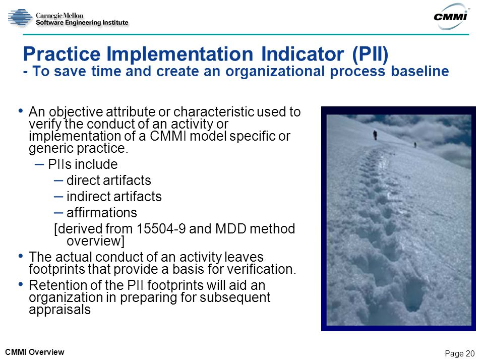 Practice Implementation Indicator (PII) - To save time and create an organizational process baseline