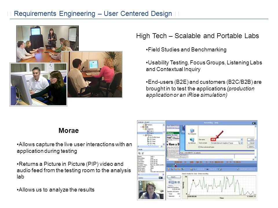  Requirements Engineering – User Centered Design 