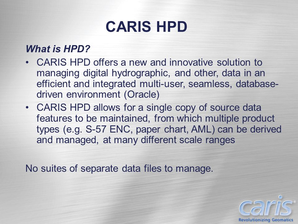 CARIS HPD What is HPD