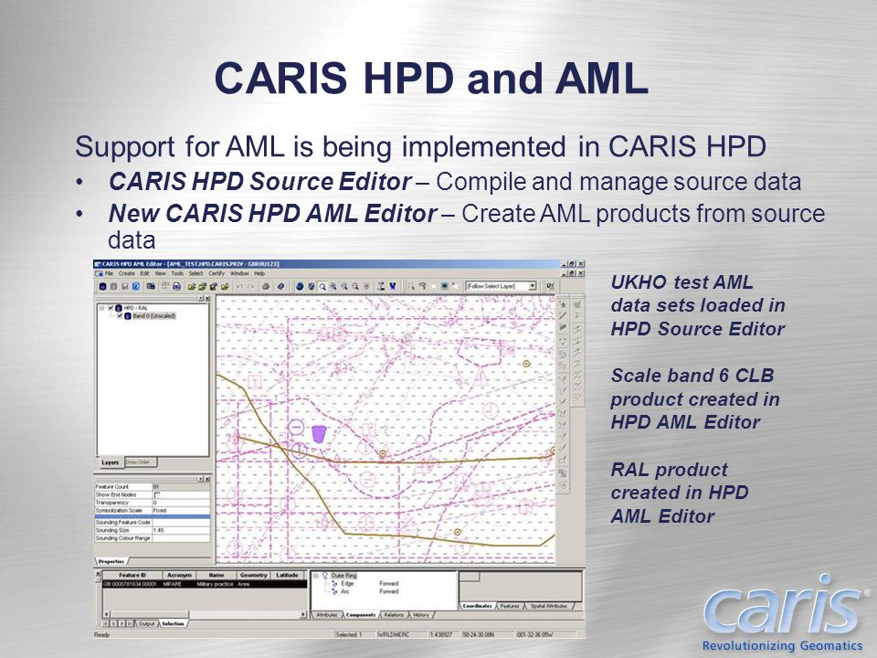 CARIS HPD and AML Support for AML is being implemented in CARIS HPD