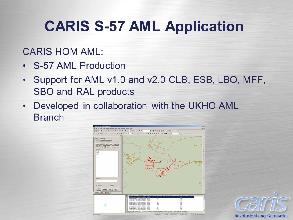 CARIS S-57 AML Application