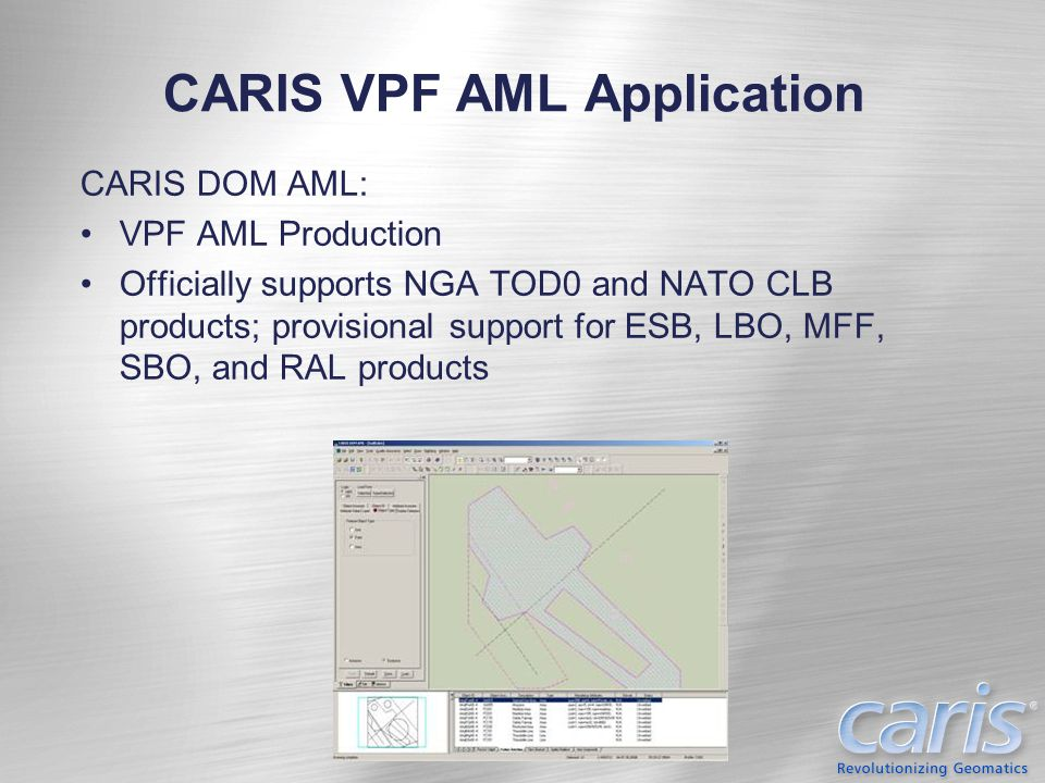 CARIS VPF AML Application