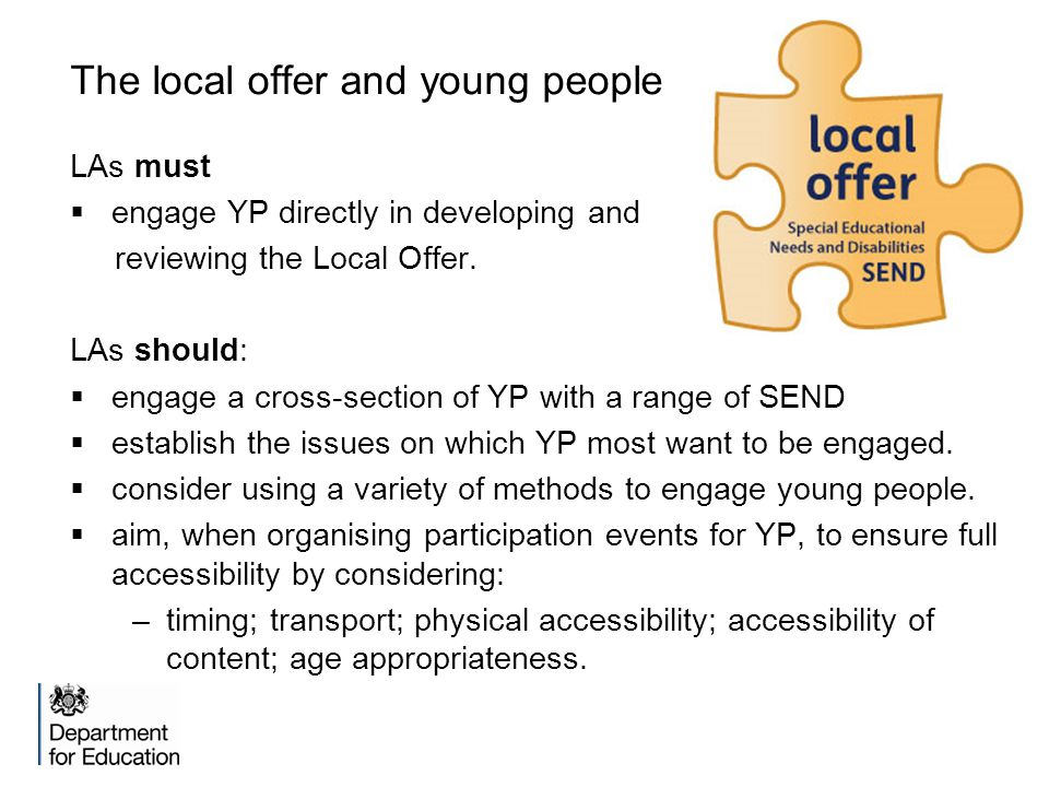 The local offer and young people