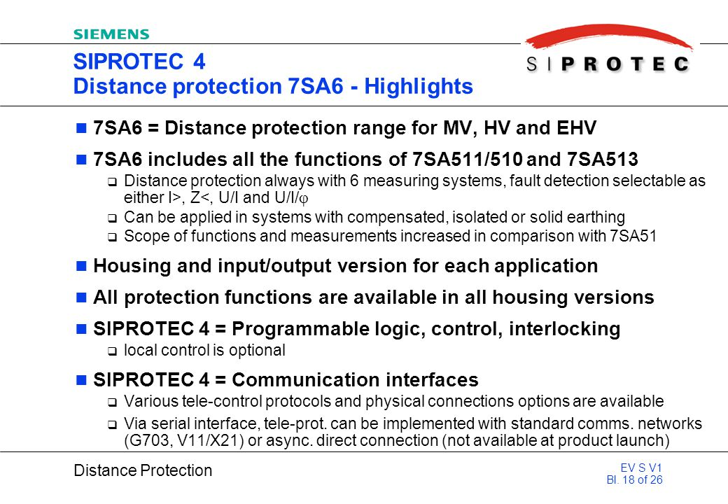 SIPROTEC 4 Distance protection 7SA6 - Highlights