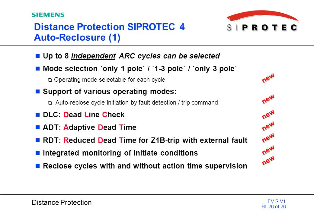 Distance Protection SIPROTEC 4 Auto-Reclosure (1)