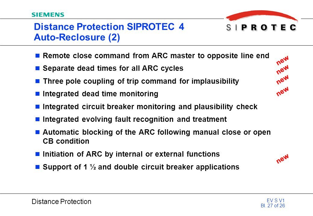 Distance Protection SIPROTEC 4 Auto-Reclosure (2)