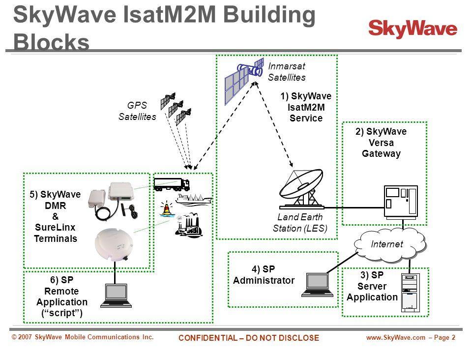 SkyWave IsatM2M Building Blocks