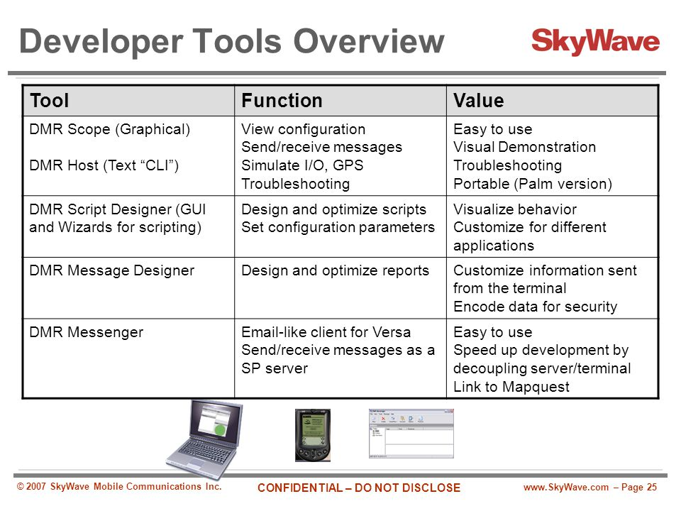 Developer Tools Overview