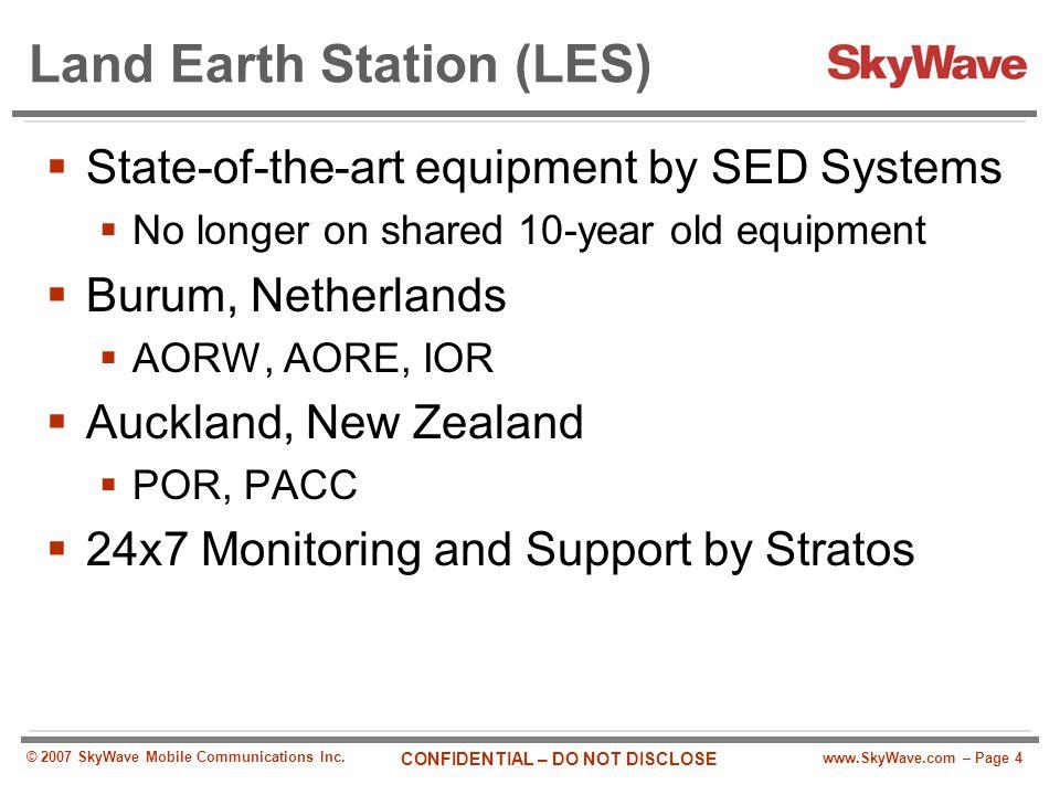 Land Earth Station (LES)