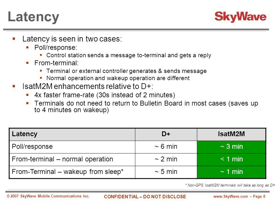 Latency Latency is seen in two cases: