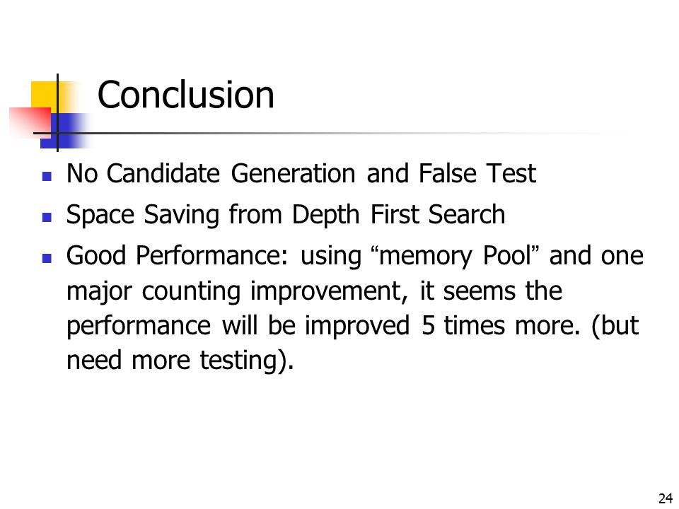 Conclusion No Candidate Generation and False Test