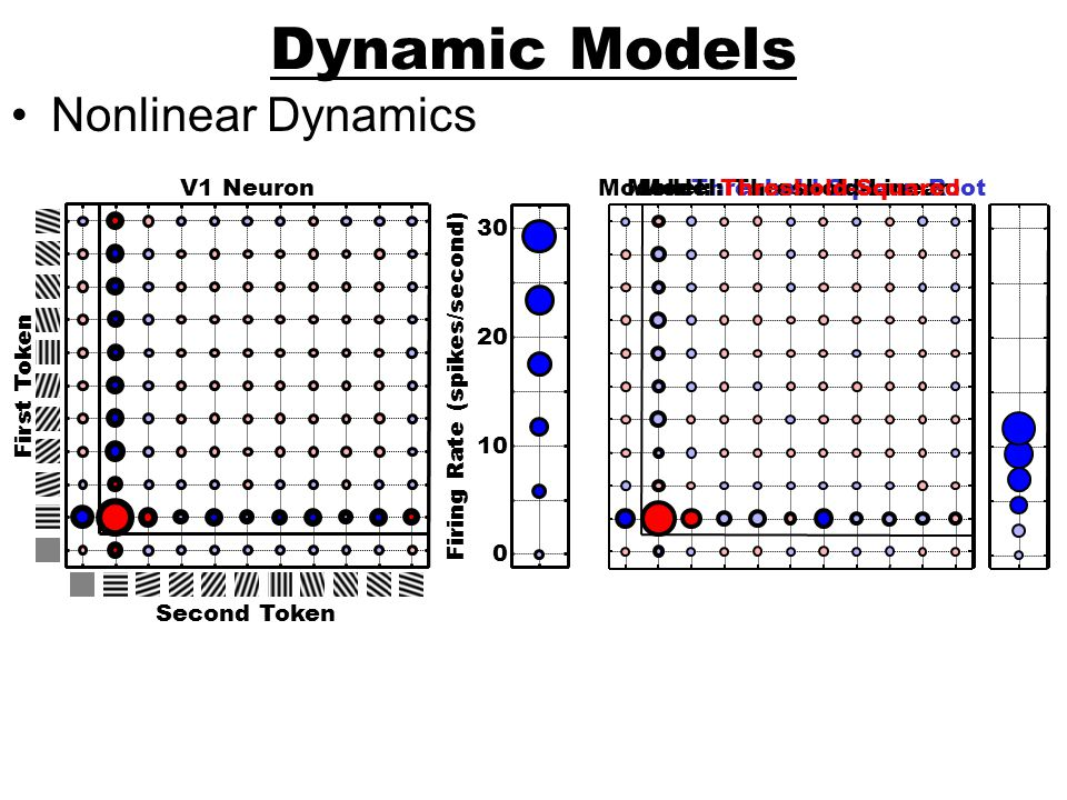 Dynamic Models Nonlinear Dynamics Firing Rate (spikes/second)