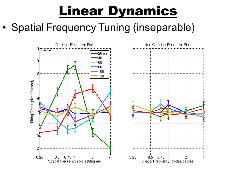 Linear Dynamics Spatial Frequency Tuning (inseparable)