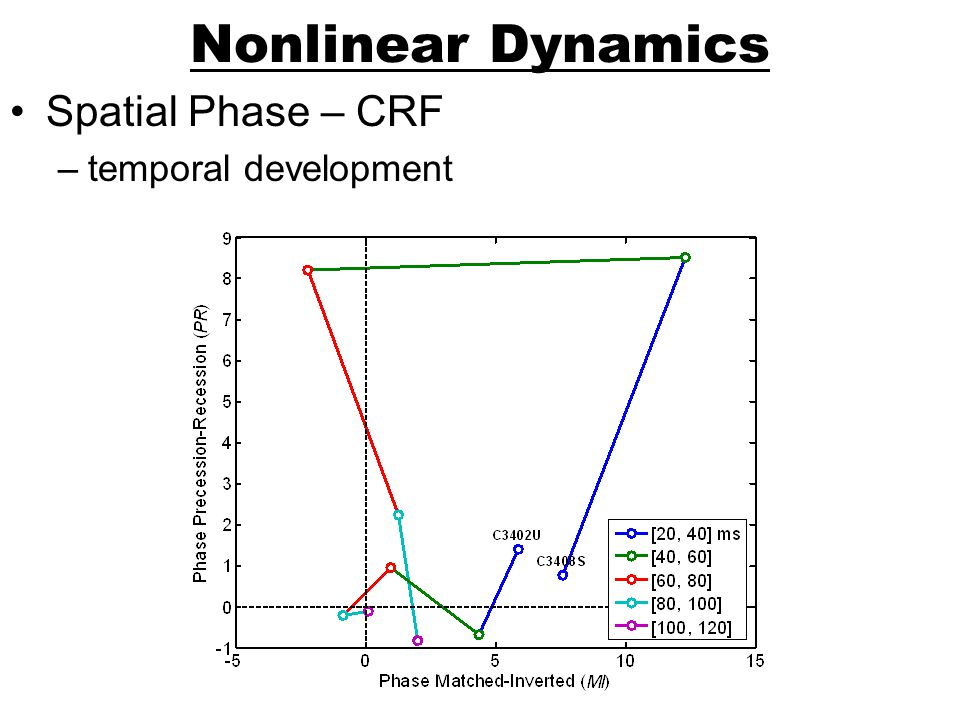 Nonlinear Dynamics Spatial Phase – CRF temporal development