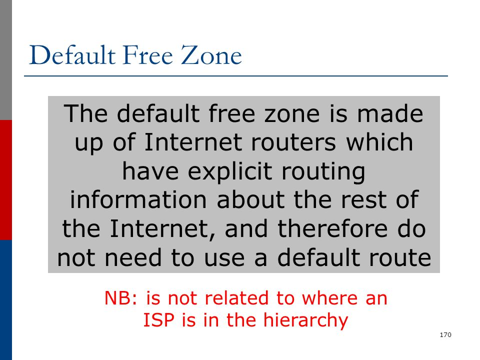 NB: is not related to where an ISP is in the hierarchy