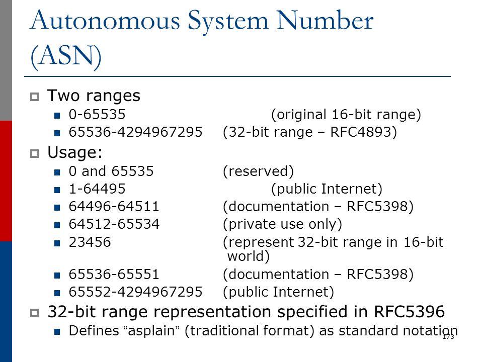 Autonomous System Number (ASN)