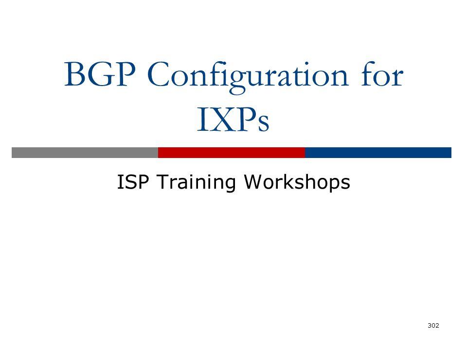 BGP Configuration for IXPs