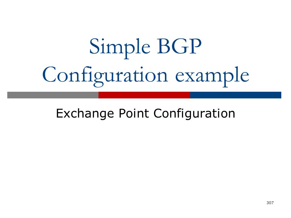 Simple BGP Configuration example