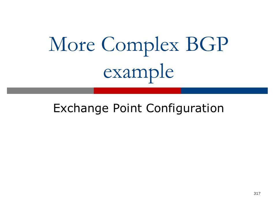More Complex BGP example