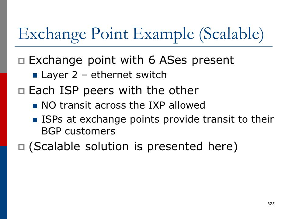 Exchange Point Example (Scalable)